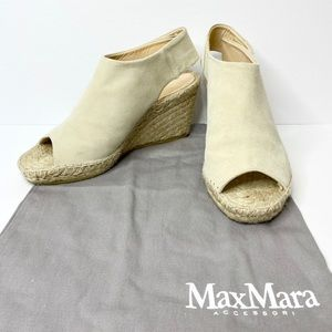 Weekend by Max Mara Suede Wedge Espadrilles